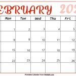 February 2021 Calendar Printable Free Printable