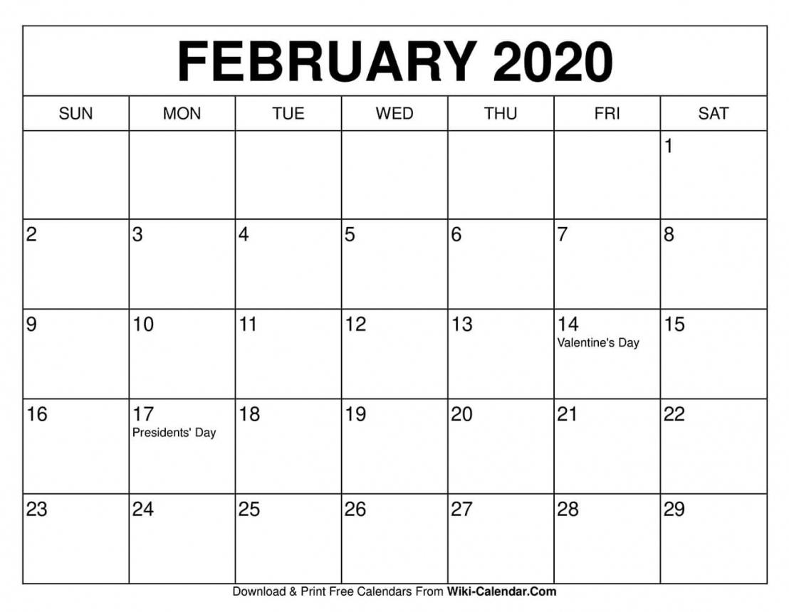 February 2021 Calendar Templates Free Letter Templates