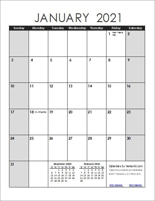 Fillable Calendar 2021 Printable Calendar Design