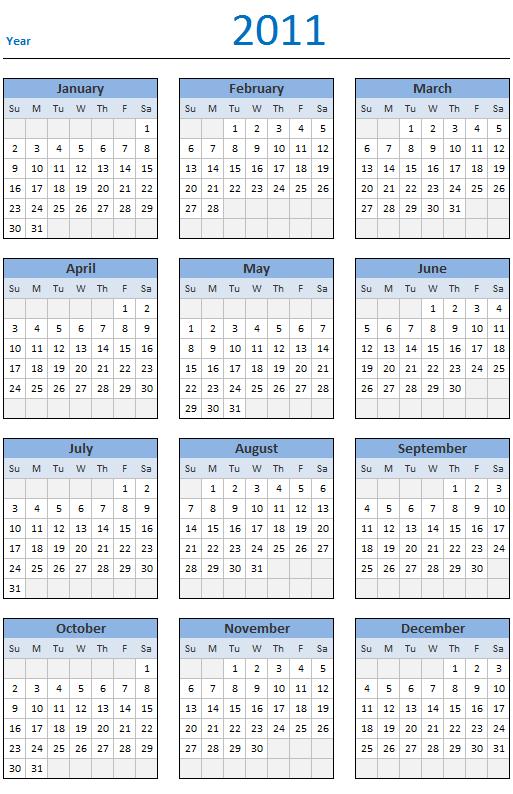 Free 2011 Calendar Download And Print Year 2011 Calendar