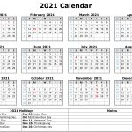 Free 2021 Printable Monthly Calendar With Holidays Word 1