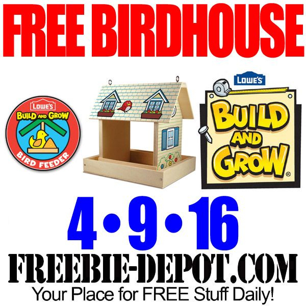 Free Birdfeeder At Lowes Free Kid Craft Workshop Free