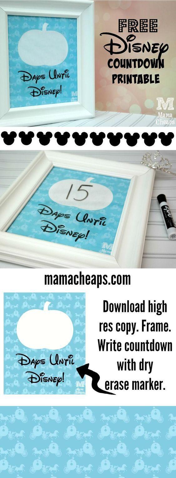 Free Cinderella Inspired Disney Trip Countdown Printable