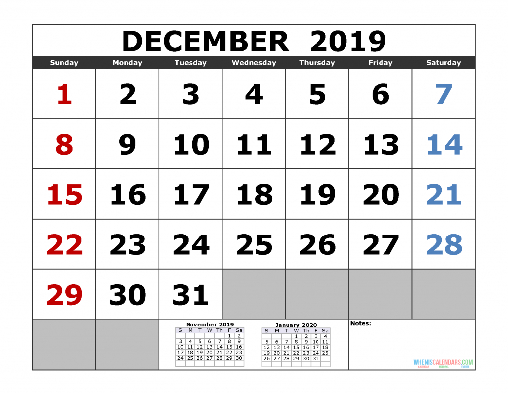 Free Download 2019 Printable Calendar Template 3 Month