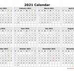 Free Download Printable Calendar 2021 In One Page Clean 2