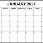 Free January 2021 Calendar Printable Blank Templates 2