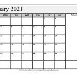 Free January 2021 Calendar Printable Pdf Word 3