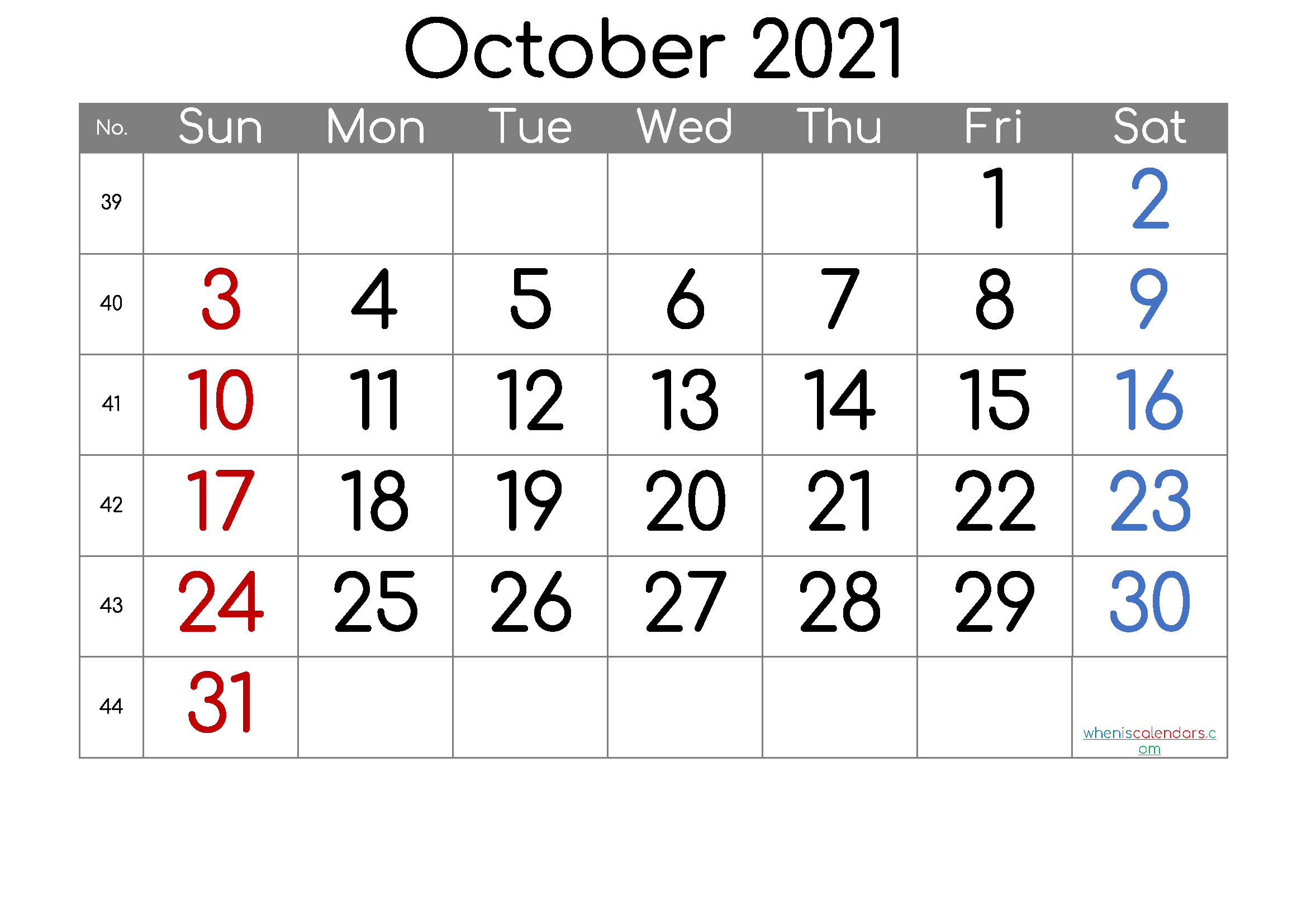 6 Week Blank Calendar 2021 - Calendar Template 2020