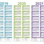 Free Printable 2019 2020 2021 Calendar With Holidays 1