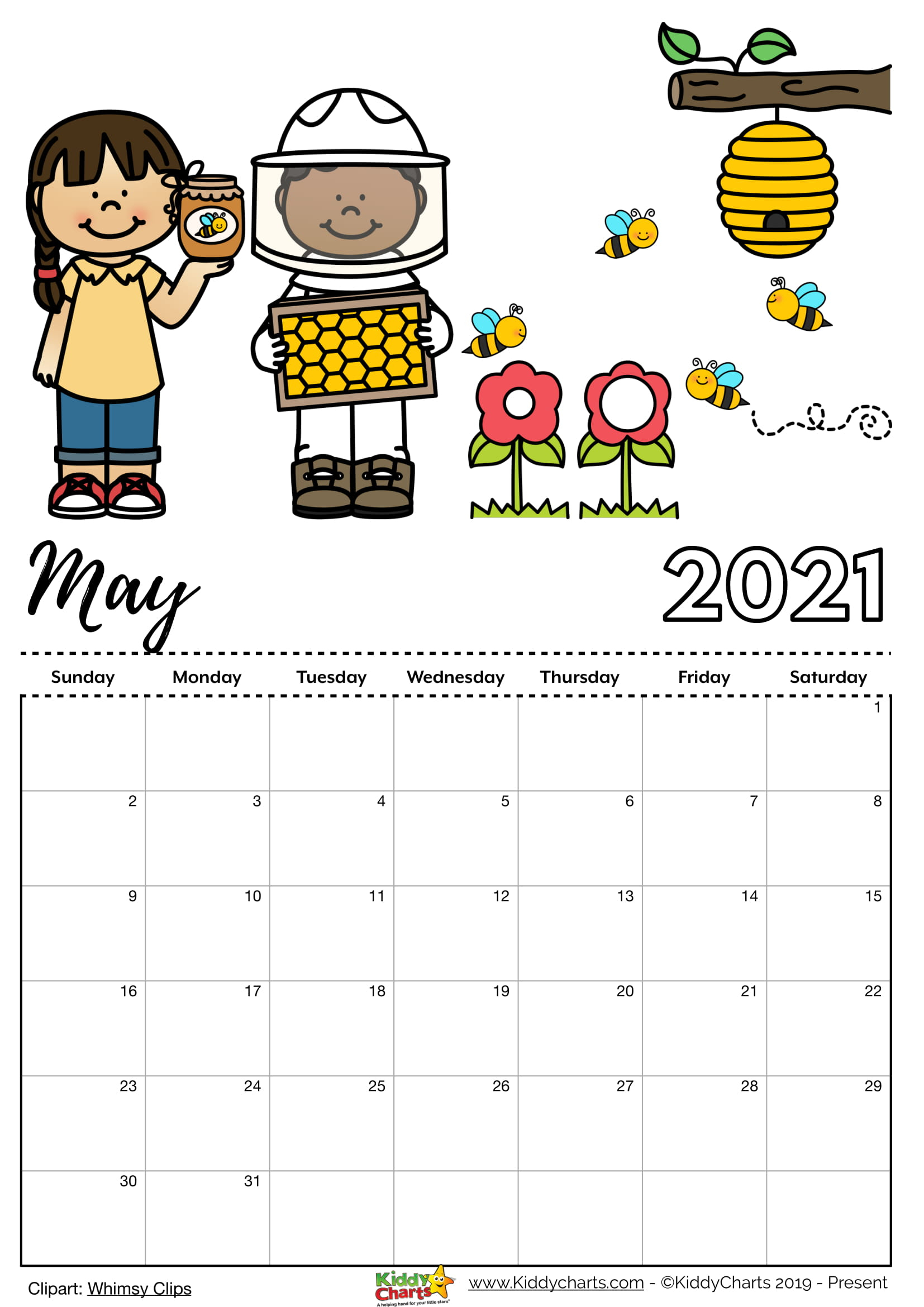 Free Printable 2021 Calendar Includes Editable Version
