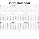 Free Printable 2021 Yearly Calendar With Week Numbers 6