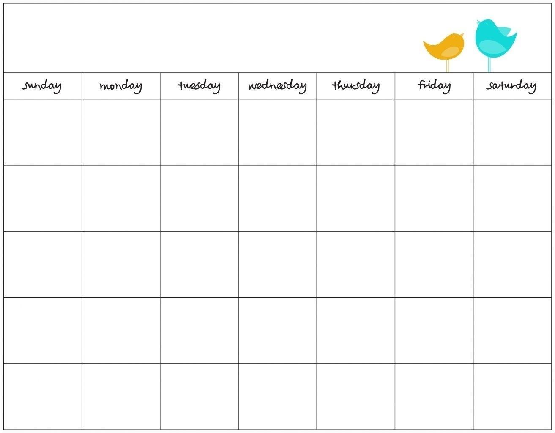 Free Printable 30 Day Calendars Calendar Inspiration Design