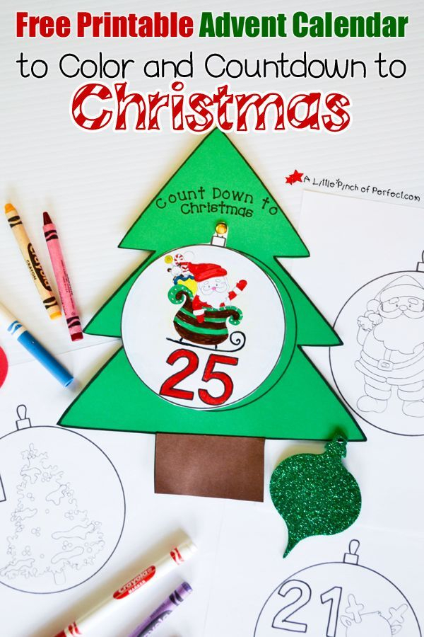 Free Printable Advent Calendar For Kids To Color And