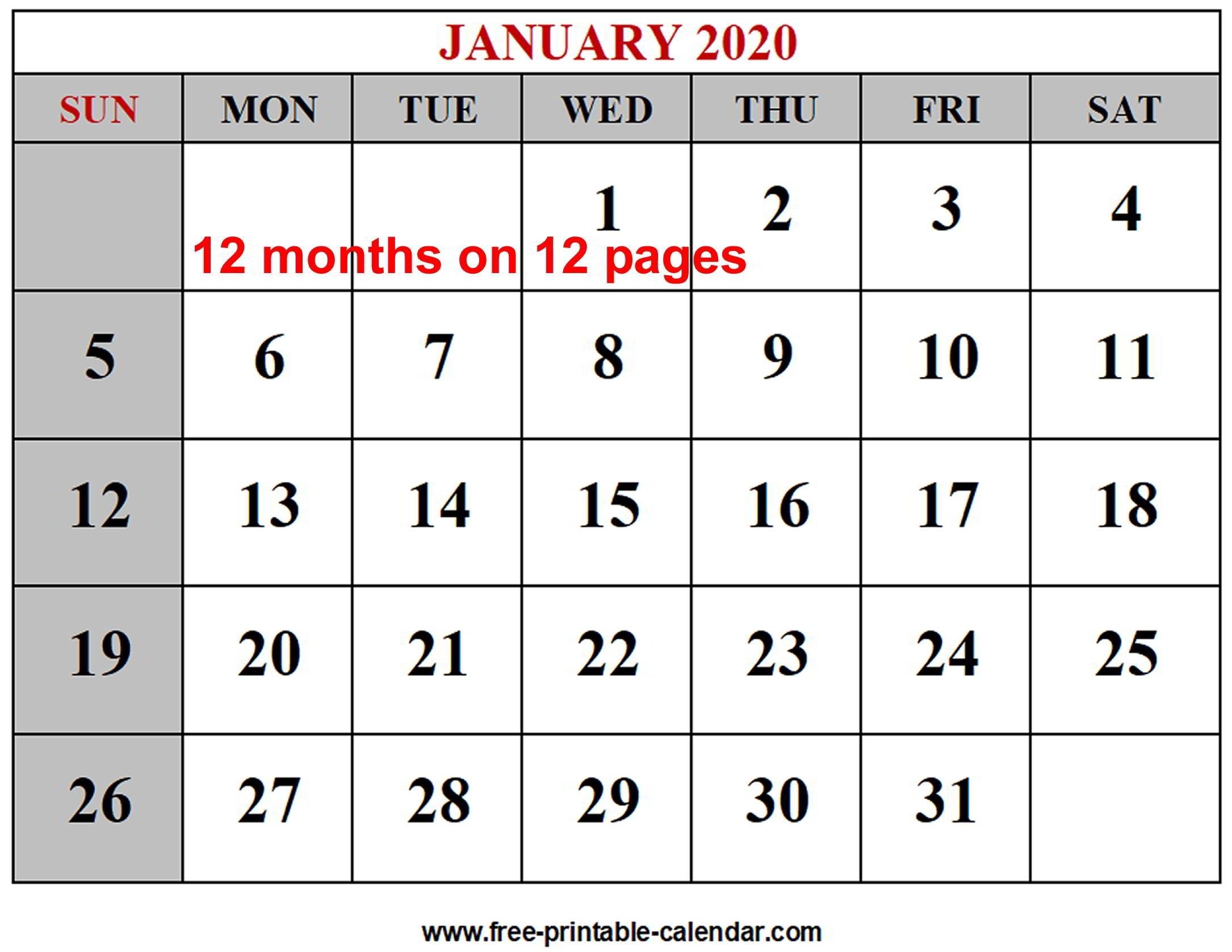 Free Printable Calendar Editable Ten Free Printable 1