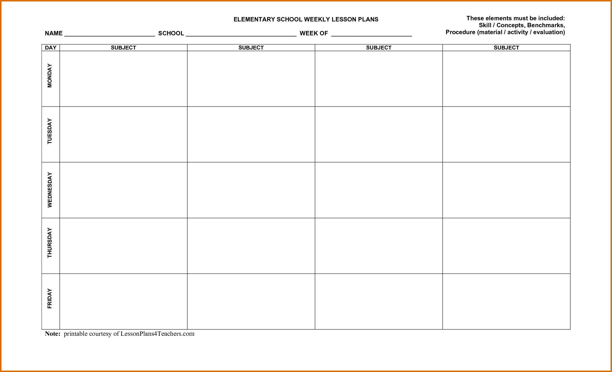Free Printable Calendar Lesson Plans Month Calendar 4