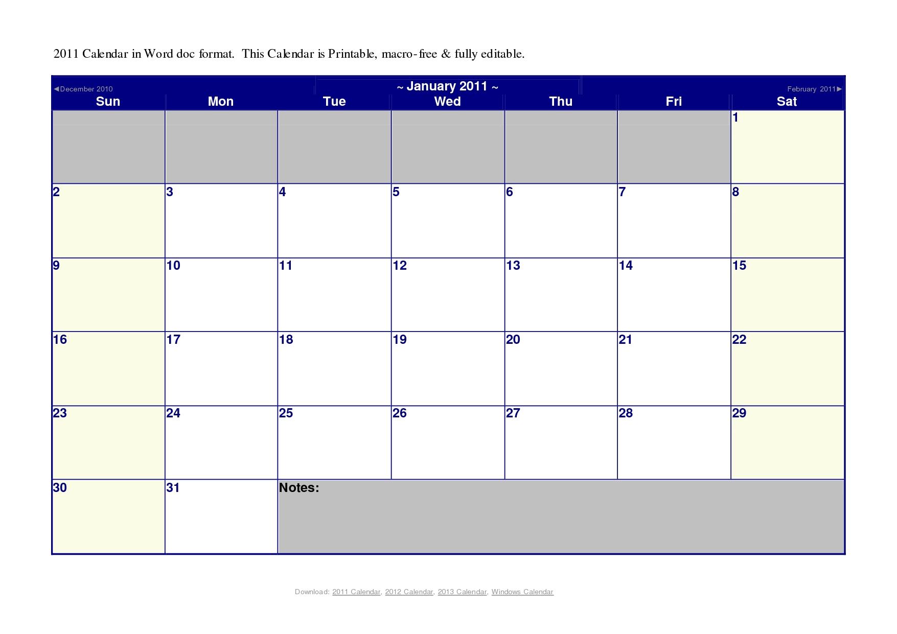 Free Printable Calendar Microsoft Month Calendar Printable