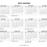 free printable calendar year 2021 calendar printables 2