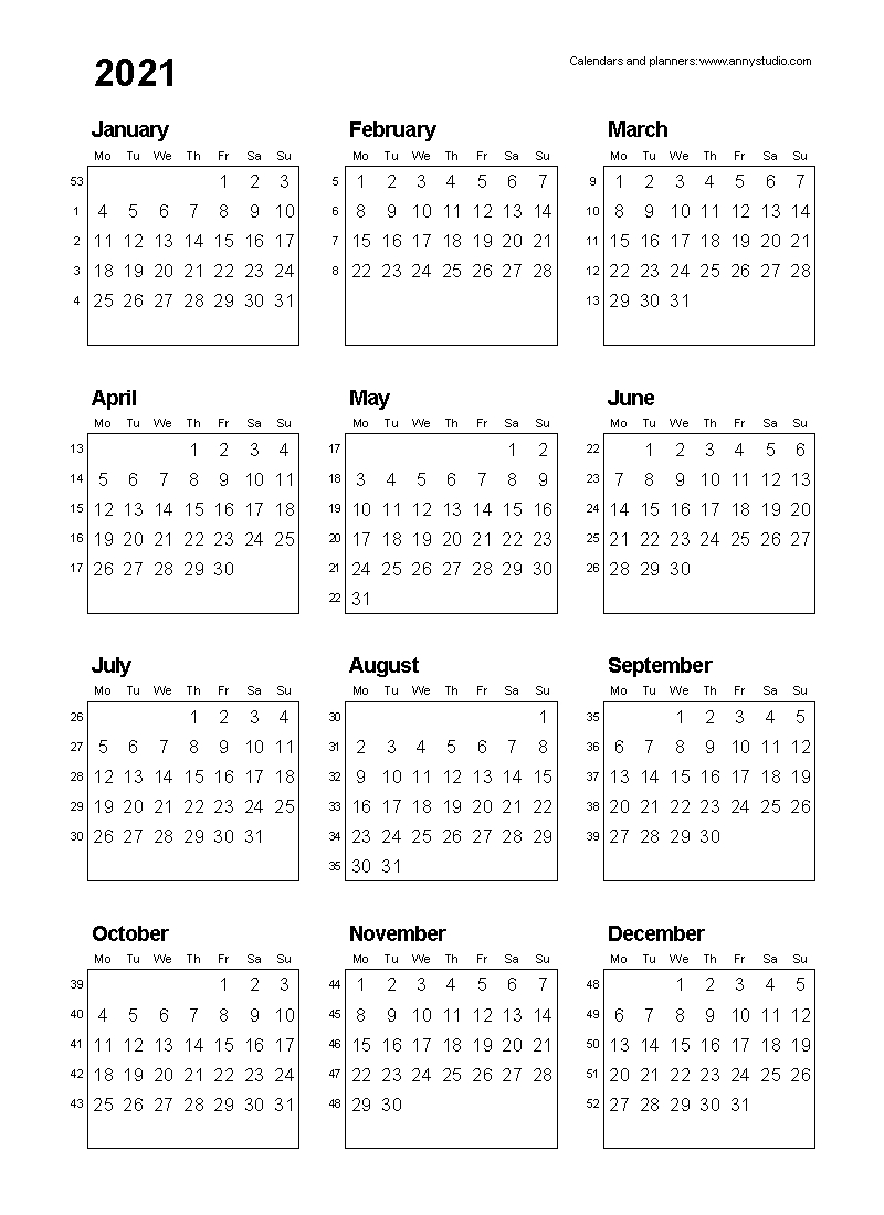 Free Printable Calendars And Planners 2021 2022 And 2023