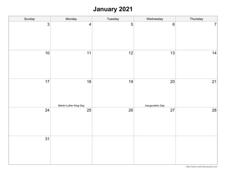 Free Printable Calendars Calendarsquick