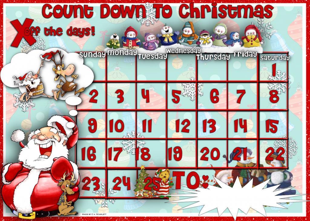 Free Printable Christmas Countdown Calendar Calendar 3
