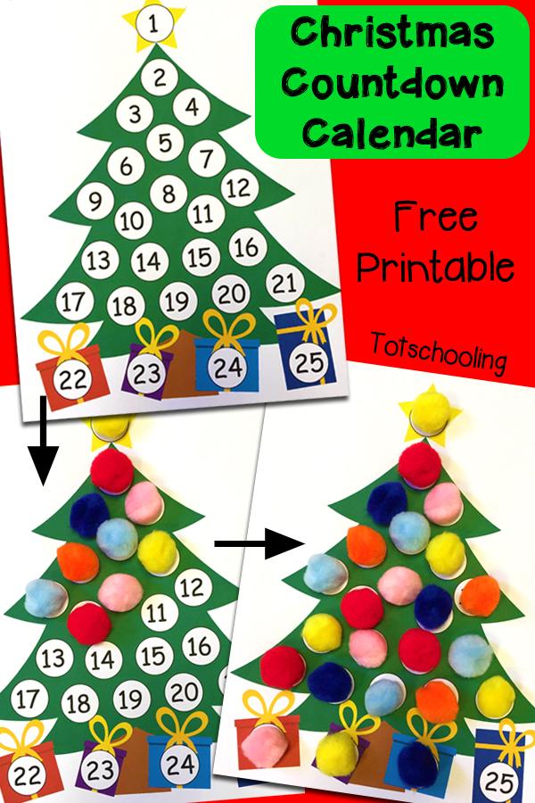 Free Printable Christmas Countdown Calendar Calendar