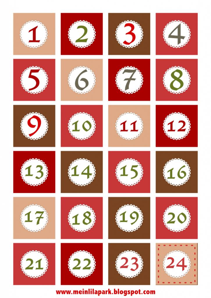 Free Printable Christmas Countdown Calendar Pdf Calendar 1