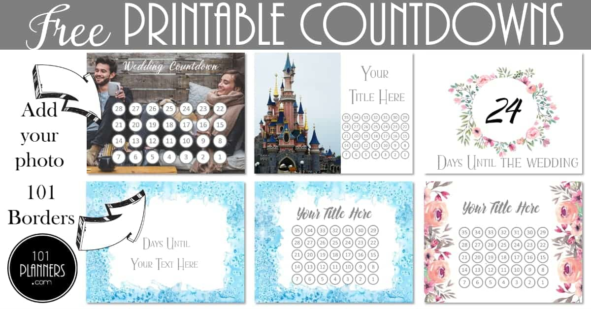 Free Printable Countdown Calendar Template Customize Online