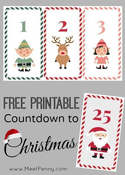 Free Printable Countdown To Christmas Christmas