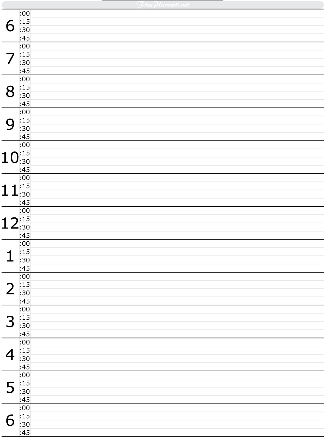 Free Printable Hourly Daily Planner Daily Planner
