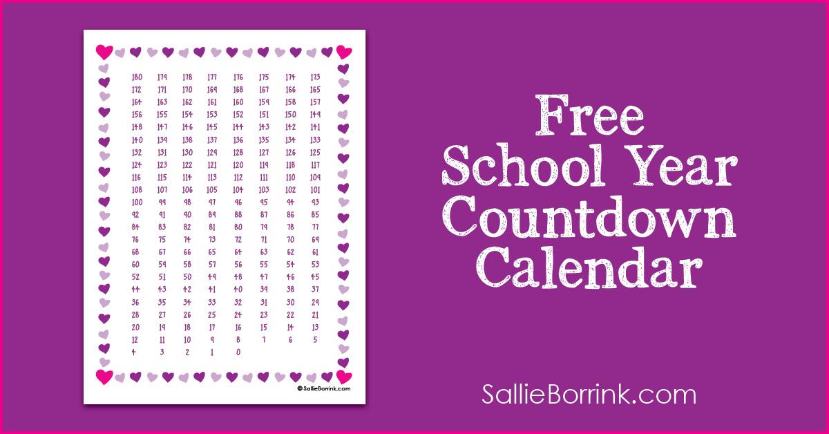 Free School Year Countdown Calendar Printable A Quiet 1