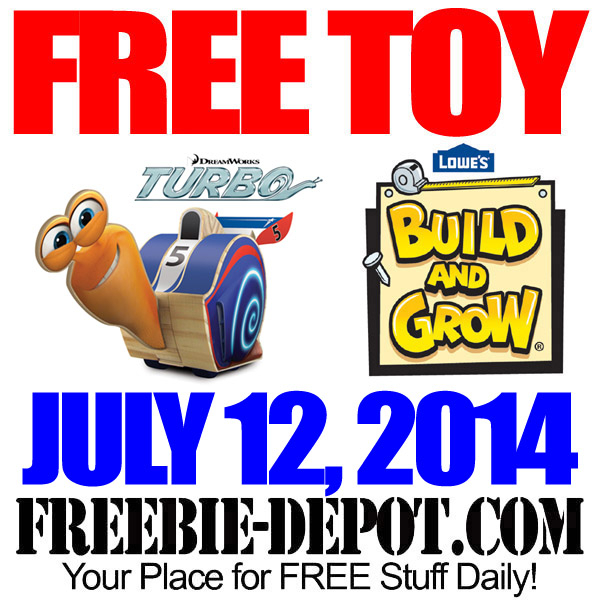Free Turbo Toy At Lowes Freebie Depot