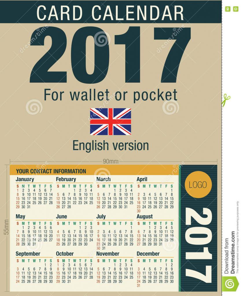 Full Calend Wallet Size Calendar Template 2020
