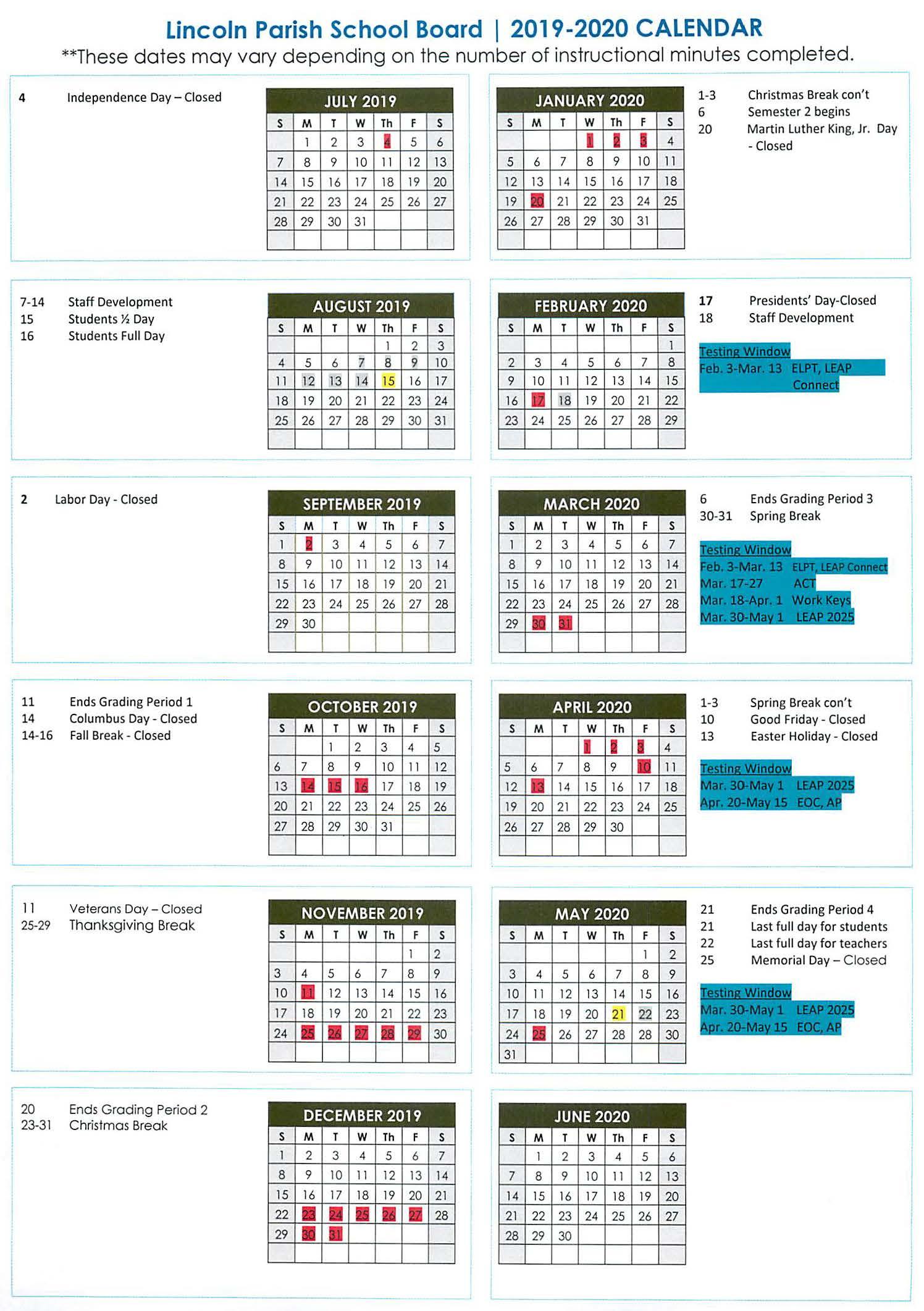 Full Sail University Calander Printable Calendar 2020 2021