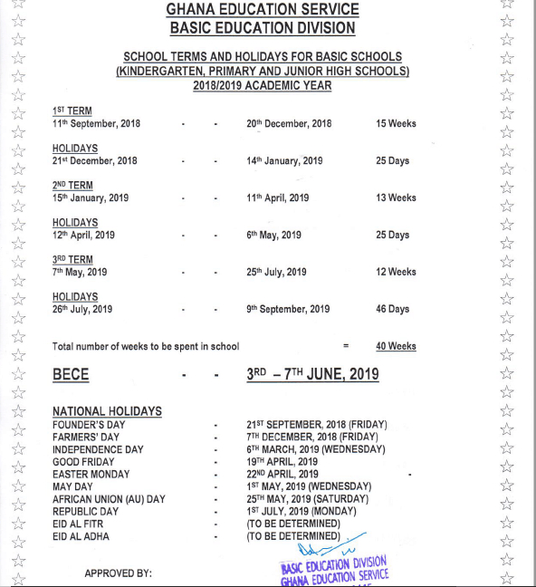 Ghana School Holidays 2019 Publicholidays Africa