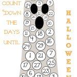 Halloween Countdown Calendar Free Printable Halloween