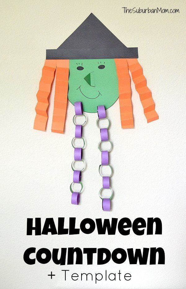Halloween Countdown Witch Template Kids Craft