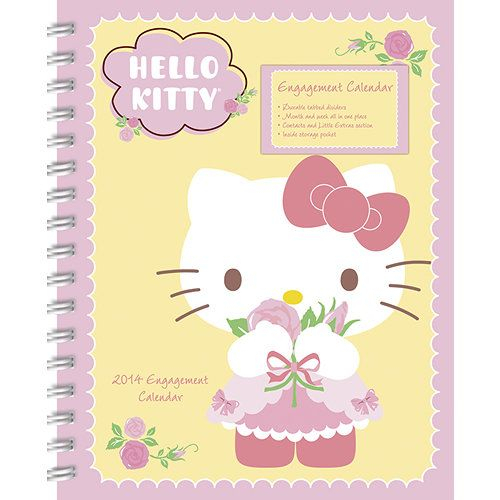 Hello Kitty Softcover Engagement Calendar Sweet Cute