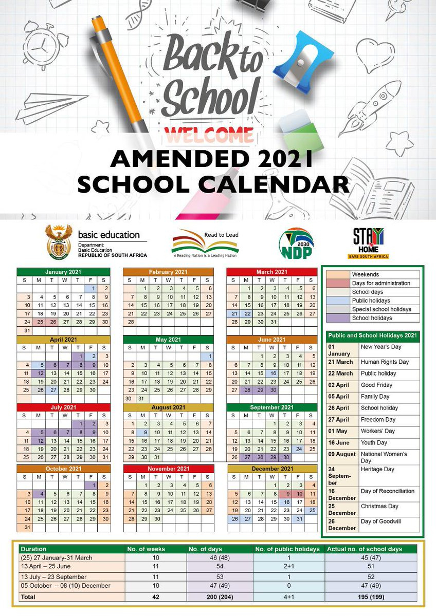 Heres The Amended School Calendar For 2021 Htxt Africa
