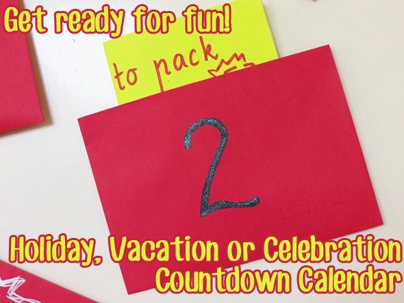Holiday Vacation Countdown Calendar Preparing For