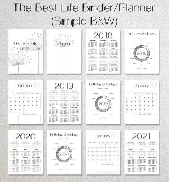 Home Management Binder Planner Printables Collection