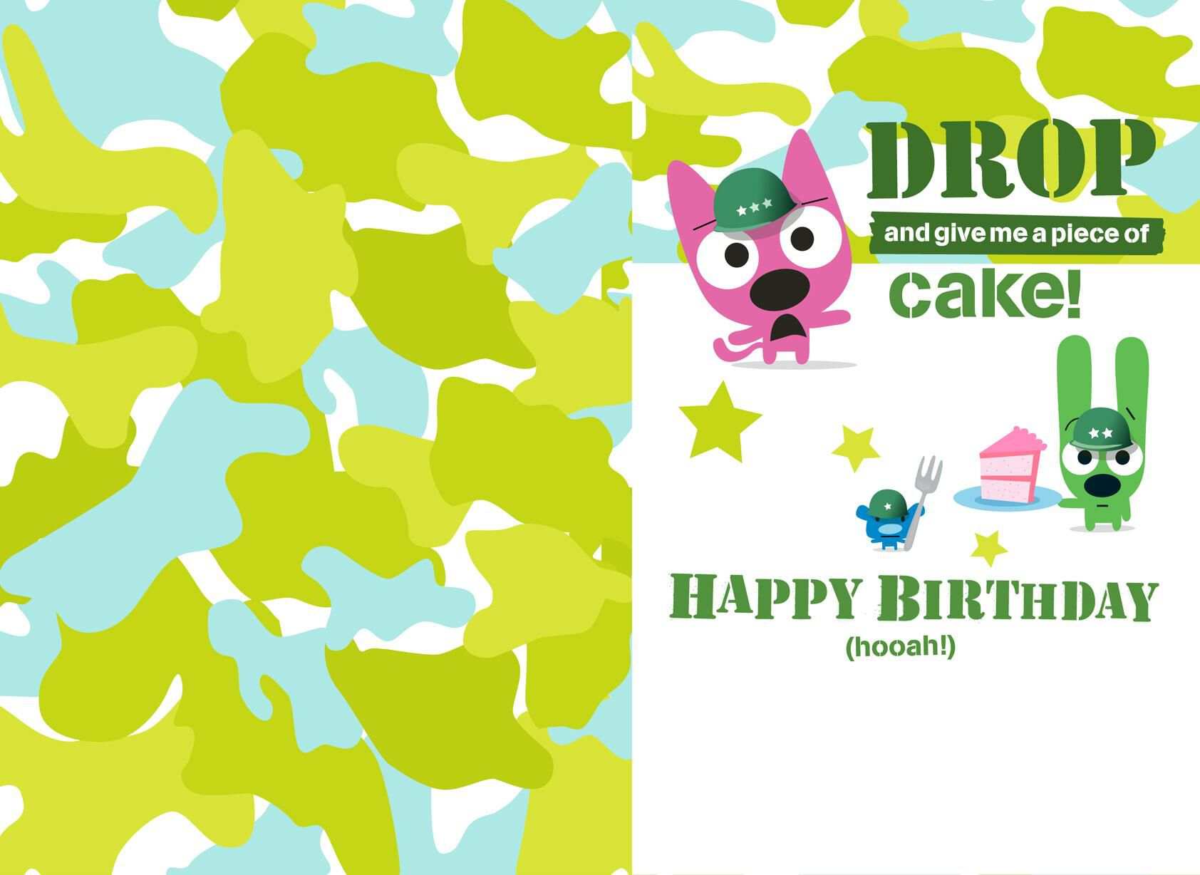 Hoopsyoyo Boot Camp Birthday Card With Sound Greeting