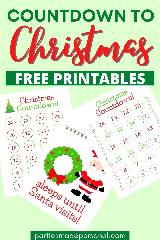 How Many Days Until Christmas Calendar Free Printable