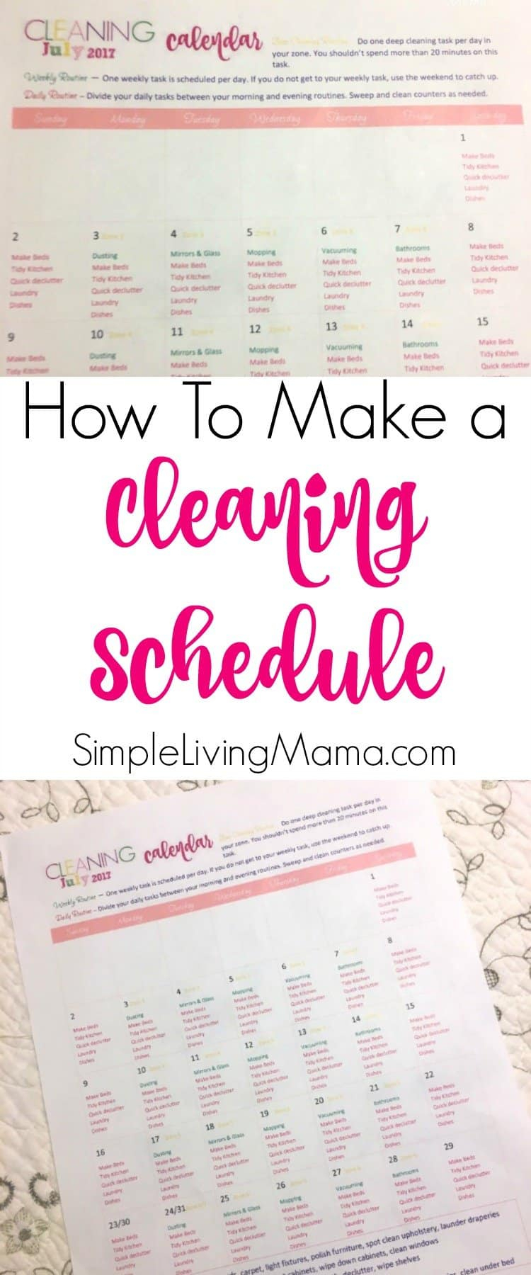 How To Make A Cleaning Schedule Even If You Have Little