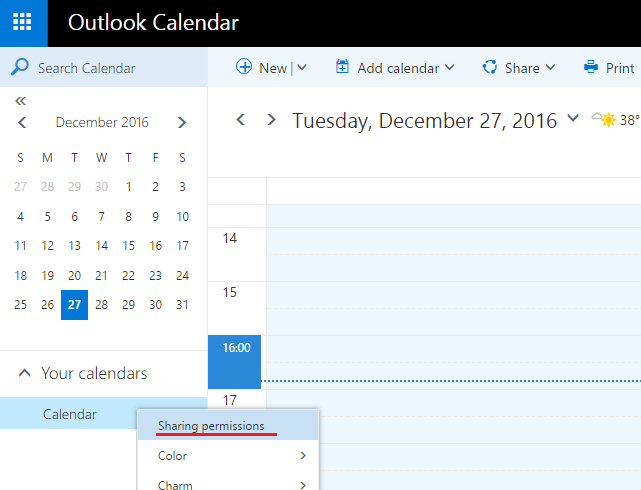 How To Open Shared Calendar From Sharing Outlook