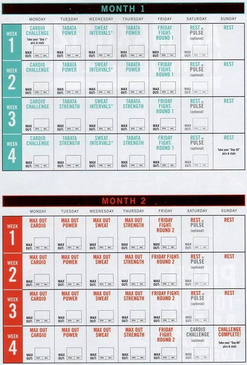 Insanity Max 30 Calendar Get This Schedule Pdf With Tips