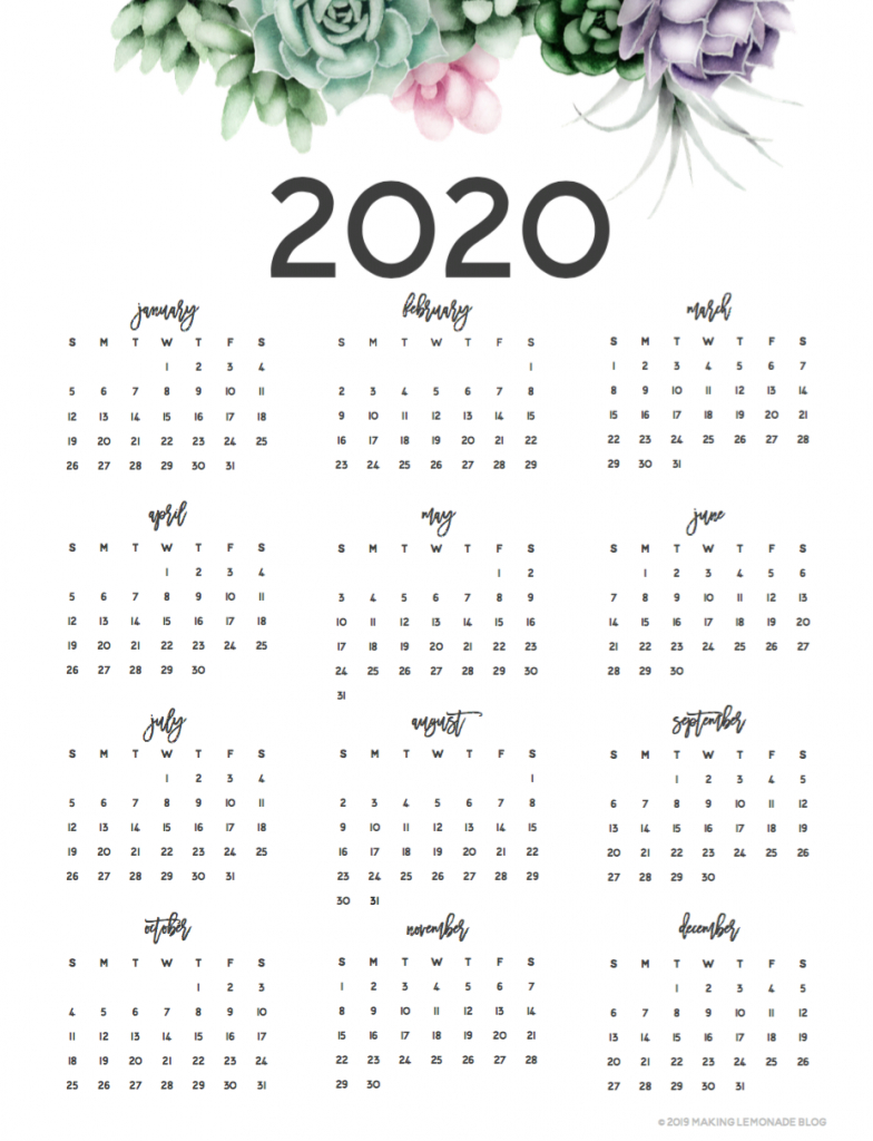 Its Here Get Your Free 2020 Printable Planner Making