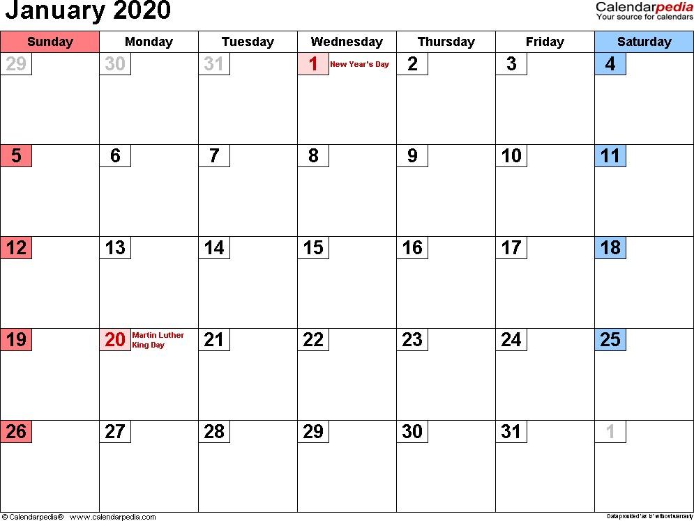 January 2020 Calendar New Calendar Collection 2019 1