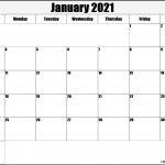 January 2021 Blank Calendar Collection 2