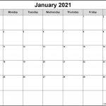January 2021 Calendar 56 Templates Of 2021 Printable