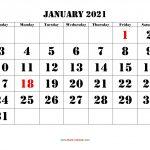 January 2021 Calendar Free Download Printable Calendar 2